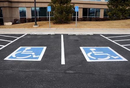 Parkeerplaatsen voor gehandicapten bij Office Building
