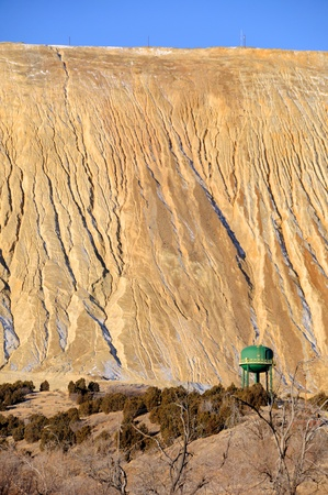 tailings: Giant Tailings Pile at Copper Mine