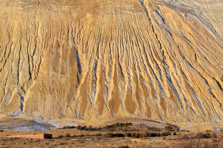 Giant Copper Mine Tailings Pile photo