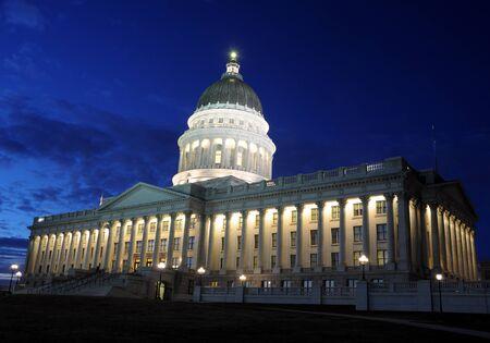 utah: Utah Capitol at Twilight