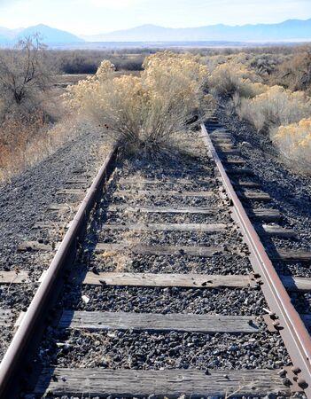 unused: Old Unused Railroad Line Stock Photo