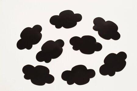 Black cloud bubble photo
