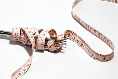 measurement tape: Fork & measurement tape.