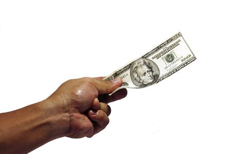 A hand for US dollar photo