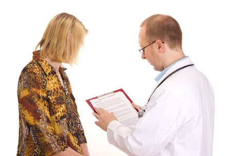 Medical doctor and patient  photo