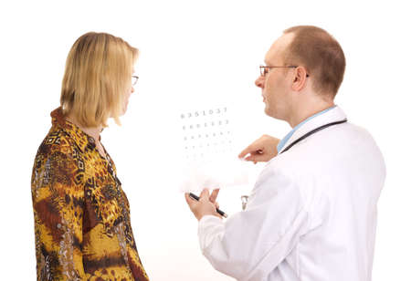 Patient by an ophthalmologist Standard-Bild