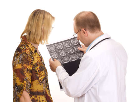 diagnostic findings: Medical doctor examining a patient