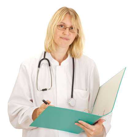 disposer: Medical doctor with documents about a patient