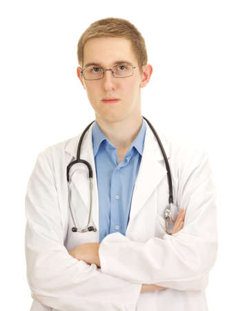 A young serious medical doctor photo