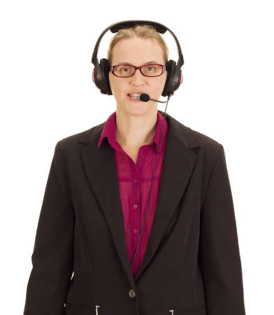 handsfree telephones: Business person with head set