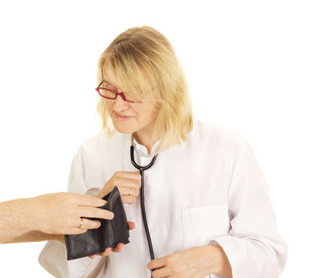 A medical doctor accepts funds Stock Photo - 15266265