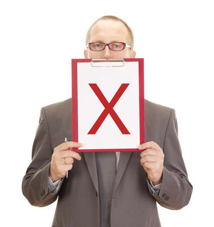 Business person with clipboard Stock Photo - 15351693
