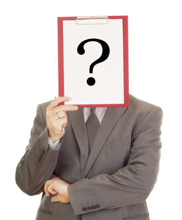 Business person with clipboard Stock Photo - 15351703