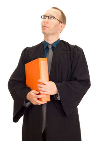 disposer: Lawyer ready for the next lawsuit Stock Photo
