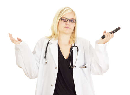 Medical doctor with a gun Stock Photo - 15530423