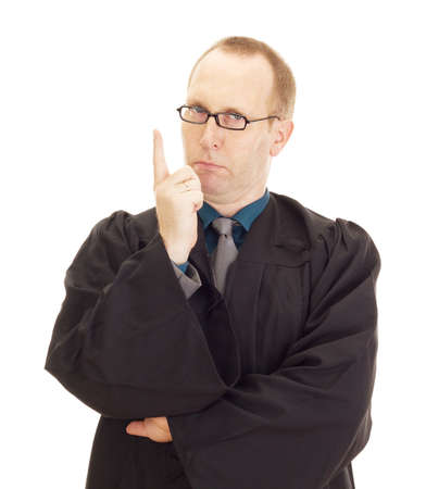 jurist: A jurist in his black robe