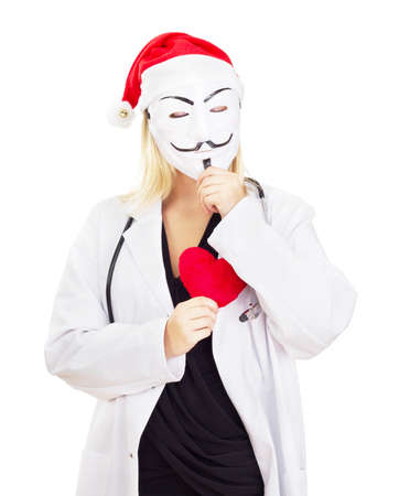 guy fawkes mask: Medical doctor with a guy fawkes mask
