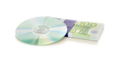 Selling information on a cd Stock Photo - 15679532