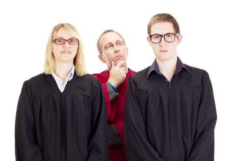 jurists: Three jurists Stock Photo