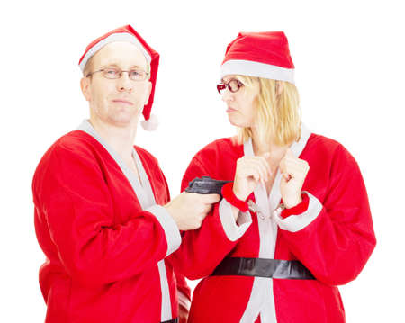Santa claus handcuffed Stock Photo - 15763054