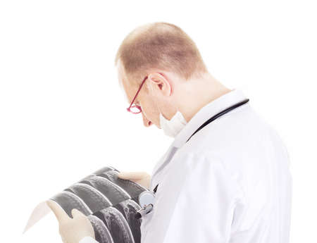 Medical doctor with radiograph Stock Photo - 15763075