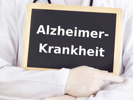 Doctor shows information: alzheimer disease photo