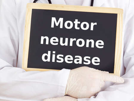 Doctor shows information: motor neurone disease Stock Photo - 15865112