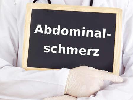 abdominal pain: Medico mostra le informazioni: dolore addominale