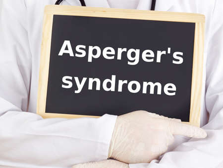 Doctor shows information: asperger's syndrome