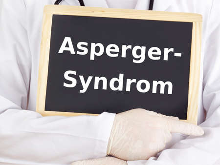 asperger syndrome: Doctor shows information: asperger syndrome