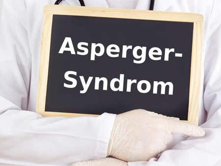 asperger syndrome: Doctor shows information: asperger syndrome