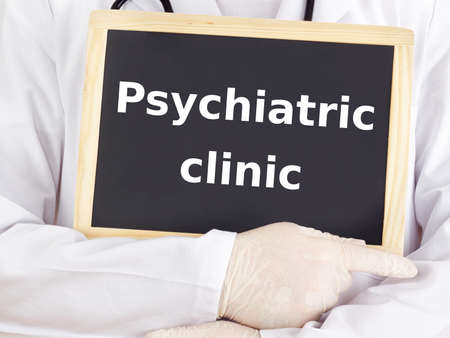 neuropathic: Doctor shows information: psychiatric clinic