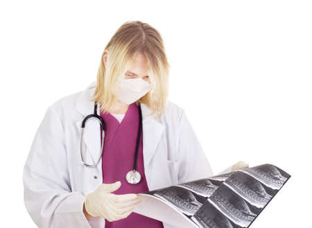 Medical doctor with radiograph Stock Photo - 15971960