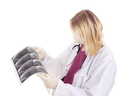 Medical doctor with radiograph Stock Photo - 15971942