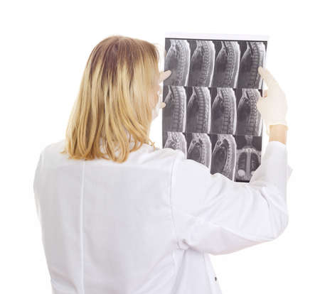 Medical doctor with radiograph Stock Photo - 15971958