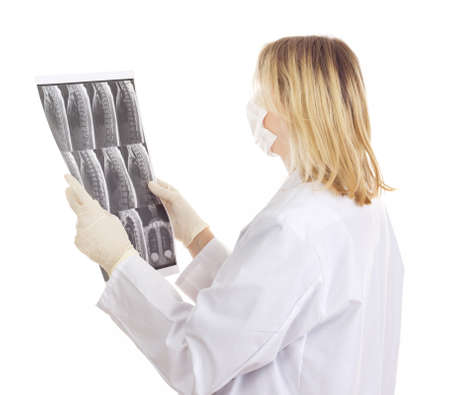 Medical doctor with radiograph Stock Photo - 15971948