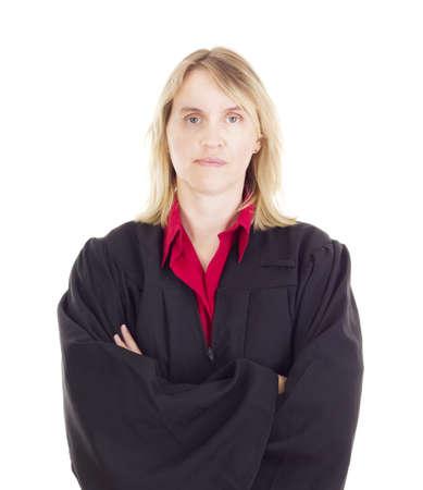 jurist: Jurist in black robe Stock Photo