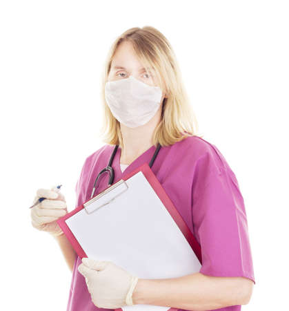 Medical doctor with clipboard Stock Photo - 15972098