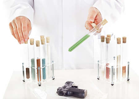 exitus: Pharmaceutical laboratory Stock Photo