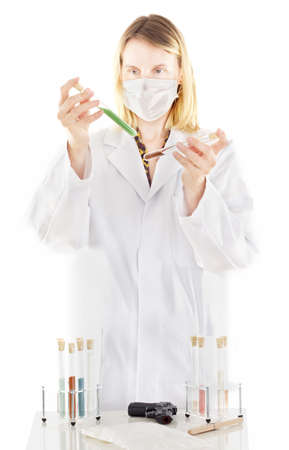 exitus: Person working in pharmaceutical laboratory Stock Photo