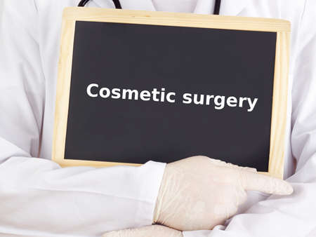 cosmetic surgery: Doctor shows information: cosmetic surgery
