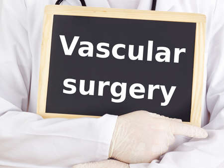 Doctor shows information: vascular surgery