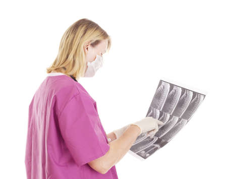 Medical doctor with radiograph Stock Photo - 16006233