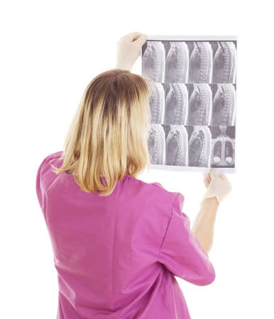 Medical doctor with radiograph Stock Photo - 16006232