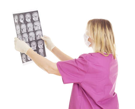 Medical doctor with radiograph Stock Photo - 16006262