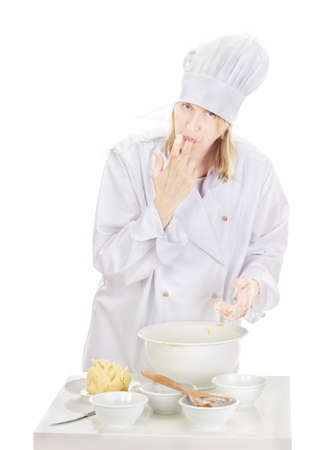 Woman baking cookies for Christmas Stock Photo - 16036781