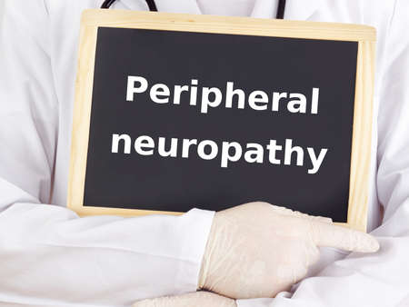 Doctor shows information: peripheral neuropathy