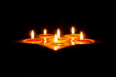 Tea light candles Stock Photo - 16160367