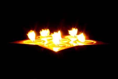 Tea light candles Stock Photo - 16160363