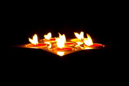 Tea light candles Stock Photo - 16160365